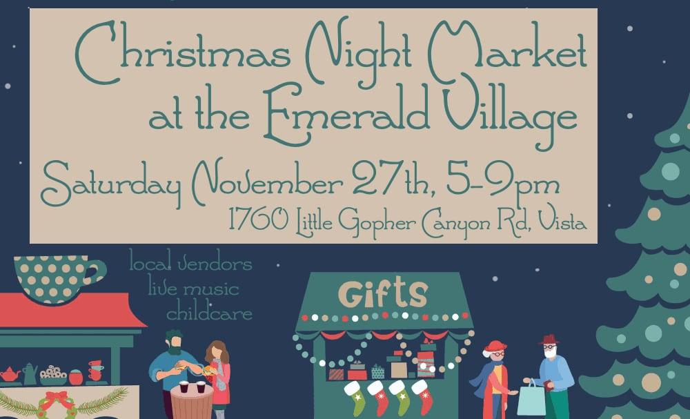 Xmas Night Market at the Emerald Village Nov 27th